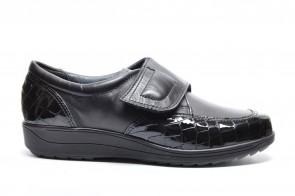 Ara Velcro Schoenen Zwart Croco