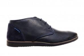 Blauwe Herenbottines Leder