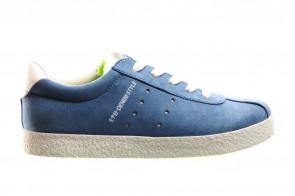 Blauwe Sneaker Met Rits En Veter
