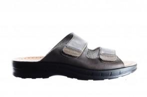 Bruine Slipper Heren Velcro