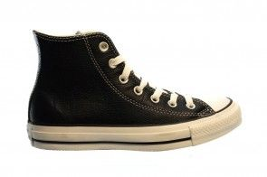 Converse All Stars Hi Black Zwart Leder