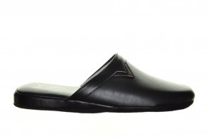 Herenpantoffels Zwart Buffel Leder