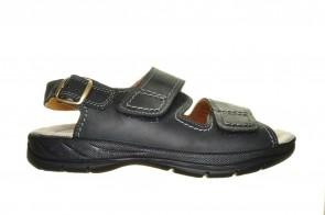 Jomos Open Zwarte Sandaal 2 Velcro