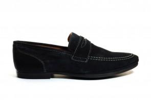 Loafers Blauw Leder Freemood
