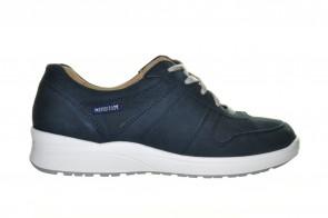 Mephisto Blauwe Sportieve Lederen Sneaker Voor Steunzolen