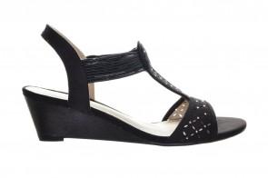 Sandalen Zwart Sleehak Sprox