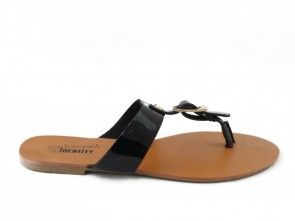 Teenslipper Zwart Lak