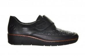 Zwart Rieker Comfort Velcro