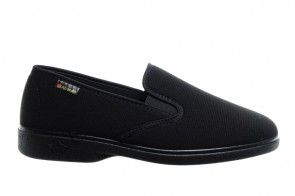 Zwarte Gesloten Pantoffel Alberola
