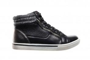 Zwarte Hoge Meisjes Sneaker